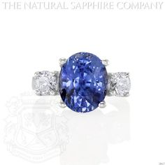 Important Platinum, Natural Blue Sapphire and Diamond Ring. (J4457) The Natural Sapphire Company http://www.amazon.com/dp/B00HYW7G18/ref=cm_sw_r_pi_dp_r8zeub055GMWG