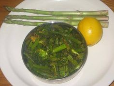 A simple and healthy stir fry with asparagus and broccoli. You know the health benefits of broccoli and asparagus. This asparagus broccoli stir fry is quick to prepare and tastes good. Stir Fry Recipes, Side Dish Recipes, Cooking Recipes, Primal Recipes, Healthy Recipes, Yummy Recipes, Vegetable Side Dishes, Vegetable Recipes, Easy Indian Recipes