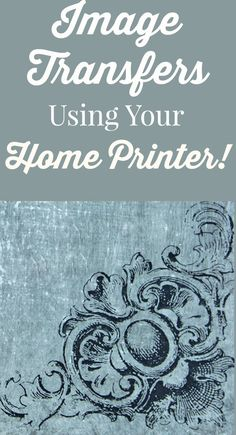 How to Transfer Images with Inkjet Printers! So nice to finally find a crafts technique for transferring images using a Home Printer! Great for DIY Home Decor Projects! By Thicketworks for The Graphics Fairy. Canvas Photo Transfer, Glass Transfer, Wood Transfer, Ink Transfer, Transfer Printing, Wax Paper Transfers, Transfer Paper, Image Transfers, Photo On Wood