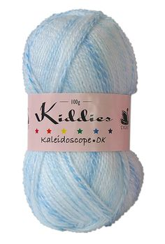 Cygnet Kiddies Kaleidoscope DK - gently striping marbled baby yarn. Shade: Blue Ribbon