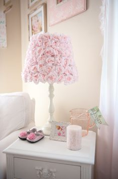 Rose Lamp - perfect accent in a shabby chic nursery!