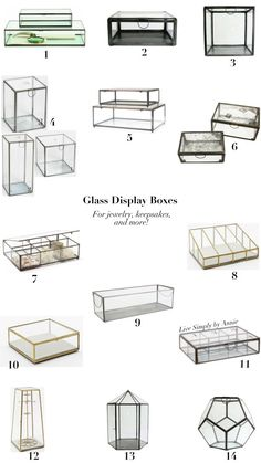 Glass Display Boxes // Live Simply by Annie