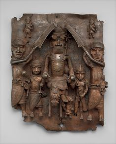 Nelson Rockefeller Plaque: Equestrian Oba and Attendants, Edo people, Court of Benin, Nigeria, 1550-1680