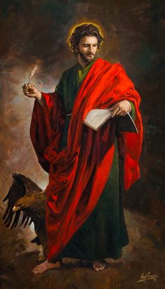 Catholic Prayers, Catholic Art, Catholic Saints, Religious Art, San Juan Evangelista, Rennaissance Art, St John The Evangelist, Jesus Painting, Biblical Art
