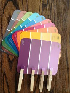 Paint Chip Color Matching Game...great idea for adults with memory loss due to Alzheimers or other dementia.
