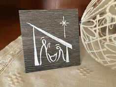 Home Remodel Curb Appeal Nativity Painting on Vinyl Tile - Christmas Nativity Painting - Creche Painting - Birth of Jesus by AlleluiaRocks on Etsy Christmas Nativity, Christmas Art, Christmas Signs, Christmas Holidays, Christmas Ideas, Christmas Drawing, Christmas Paintings, Teacher Christmas Gifts, Teacher Gifts