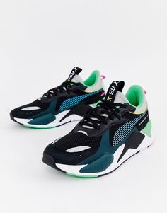 b3dfbfcf6f61ec PUMA RS-X TOYS SNEAKERS IN BLACK - BLACK.  puma  shoes Puma