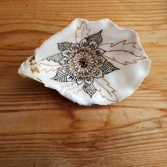 handpainted shell, mandala collection