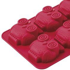 forma para cupcakes vermelha em silicone - 26x17 cm