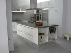 Silestone Gris Expo kitchen