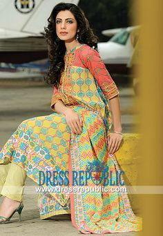 Swiss Voil Lawn Dresses 2014 by Ittehad in Maryland, USA  Designer Lawn Dresses USA: Swiss Voil Lawn Dresses 2014 by Ittehad Textile in Maryland, USA. Call Los Angeles, CA