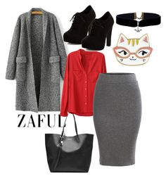 """""""ZAFUL# polyvore# women fasion#"""" by eelmaa ❤ liked on Polyvore featuring Alexander McQueen and New Look"""