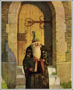 Illustration by N.C. Wyeth from The Mysterious Stranger.