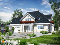 Dom w wiciokrzewie 2 Home Design Plans, Plan Design, Architect House, River House, Modern House Plans, Design Case, Model Homes, Home Fashion, Home Projects
