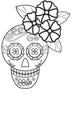Dia De Los Muertos Coloring Pages | Calaveras día de muertos para colorear