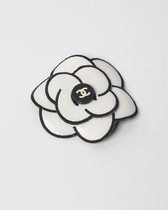 Chanel Black and White Camellia Flower Brooch White Camellia, Chanel Camellia, Vintage Gifts, Vintage Outfits, Vintage Clothing Online, Chanel Jewelry, Chanel Black, Flower Brooch, 1990s