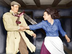 In The Quiet Man, John Wayne plays an Irish-American who has returned to Ireland, and O'Hara plays his fiery wife