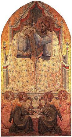 Coronation of the Virgin, ca. 1380, London, National Gallery AGNOLO GADDI (1350 circa – 15 ottobre 1396)   #TuscanyAgriturismoGiratola