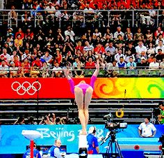 (gif of Nastia Liukin's Onodi) I chose this photo because the technique she has to do these gymnastic moves is amazing and I am truly inspired by her talents. All About Gymnastics, Gymnastics Tricks, Gymnastics Quotes, Gymnastics Workout, Gymnastics Team, Gymnastics Pictures, Artistic Gymnastics, Olympic Gymnastics, Cheerleading