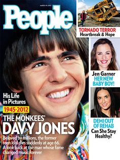 ON NEWSSTANDS 3/9/12: True to the hit song, Davy Jones was a daydreamer who made people believe, a priest told mourners at a small, private funeral for the Monkees lead singer in Indiantown, Fla.