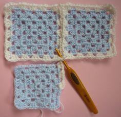 Bilderesultat for sammenhekling av bestemorruter Joining Granny Squares, Knit Crochet, Crochet Hats, Diy Tutorial, Projects To Try, Sewing, Knitting, How To Make, Fun