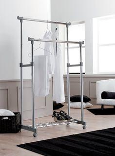 Suport dublu pentru haine si pantofi  83.5 X 44 X 91 - 160 CM Mini Dressing, Wardrobe Rack, Best Sellers, Dress Up, Plastic, Interior, Room, Furniture, Home Decor