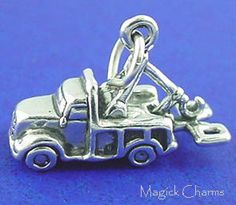 Sterling Silver .925 TOW TRUCK Repo Man Wrecker Lorry 3D Charm