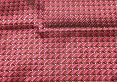 "Red Geometric - Silk Brocade (10""x14"")"