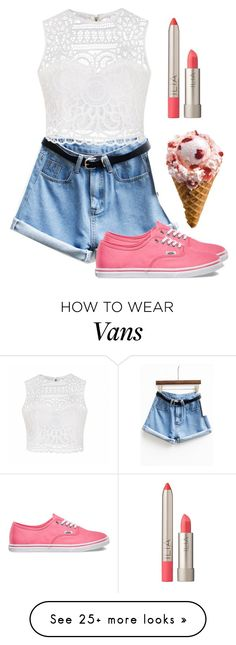 """""""Ice cream date"""" by multifandomtrash on Polyvore featuring Ally Fashion, Vans and Ilia"""