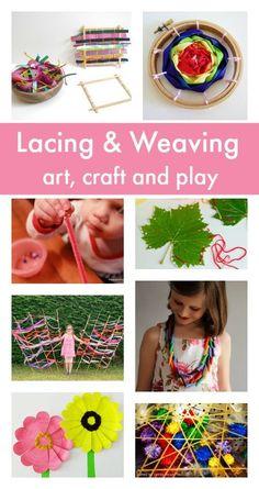 lacing activities :: weaving crafts :: weaving for kids :: fine motor skills crafts