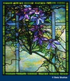Louis Comfort Tiffany – Clematis Window. #StainedGlassPeacock