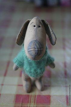 Купить Щенок Алешка - морская волна, игрушка в одежде, игрушка своими руками, щенок, собака