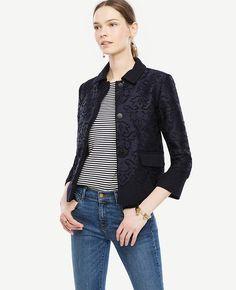 #Ann Taylor - #Ann Taylor Ann Taylor Lace Overlay Jacket - AdoreWe.com