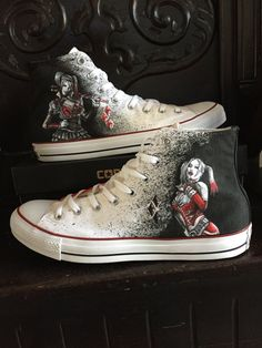 Harley Quinn shoes Not Converse-off brand shoes by AlzadoCompany