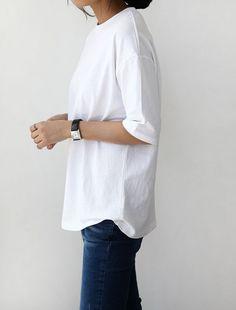 #white #shirt #denim