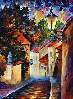 Gifts For Women Palette Knife Oil Painting On Canvas By Leonid Afremov - Evening - Design Art Canvas Paintings For Sale, Oil Painting On Canvas, Canvas Art, Oil Paintings, Famous Artists Paintings, Painting Trees, Portrait Paintings, Painting Flowers, Acrylic Paintings