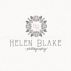 Photography Logo Premade Logo Monogram Logo by stylemesweetdesign