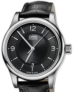 cd9dad7ab36 Oris Classic Date Mens Watches Leather