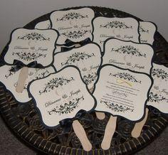 Formal three layer wedding fan $3.75 each