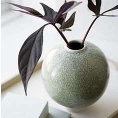 Kähler Unico vase, mosgrøn - 12,5cm