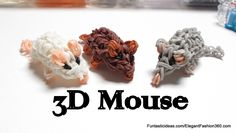 Rainbow Loom Mini Mouse/Hamster 3D Figures/charms - How to - 3D Animal Series tutorial by Elegant Fashion 360.