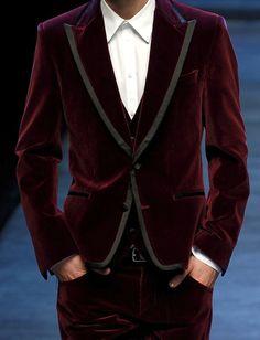 velvet suits.