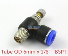 """10 Pieces Tube OD 6mm x 1/8"""" BSPT Air Flow Control Valve Pneumatic Connector Push In To Connect Fitting  EUR 12.84  Meer informatie  http://ift.tt/2d2McCY #aliexpress"""