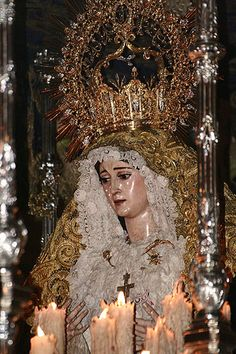 Madonna from Holy Week procession in Seville