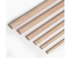 VARILLA REDONDA DE HAYA ESTRIADA Varilla redonda de Haya estriada de 1 metro de largo y varios diámetros, lista para cortar a la medida que tú quieras. Perfecta para trabajos de bricolaje. @mwmaterialsworld #VarilladeHayaEstriada #GroovedBeechDowelRod Rolling Pin, Diy, Interior Design, Wood, Crafts