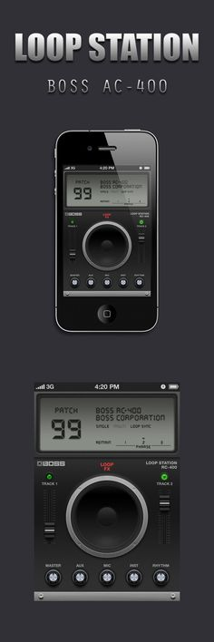 Loop Station App GUI Design for iPhone by bellox , via Behance