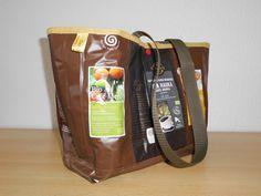 Einkaufstasche#Kaffeetüten#upcycling#bunt