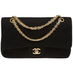 Black handbag CHANEL ($2,375) ❤ liked on Polyvore featuring bags, handbags, handbags purses, preowned handbags, chanel purses, man bag and handbags bags