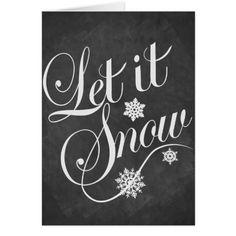 0987edd50 Christmas card Personalized chalkboard Let It Snow Výroba Vianočných  Predmetov, Frases, Texty Piesní,