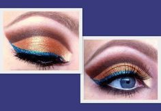 Copper with a pop of blue :)